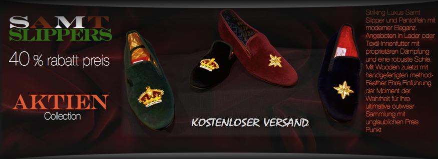 Lager Samtpantoffeln | FG Shoes